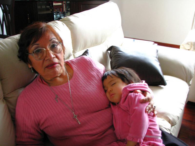 Taking a nap in grandma's arms...<br /> <br /> Durmiendo la siesta en los brazos de mi abuelita...