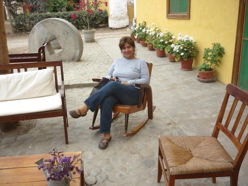 Relaxing after a nice walk through the Hacienda.<br /> Relajandome despues de una caminata por la hacienda.