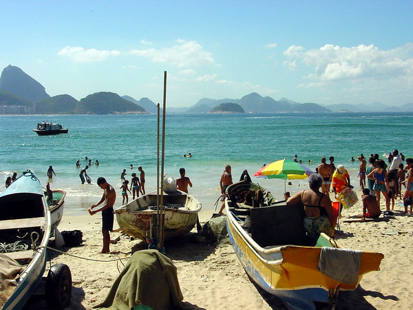 Capacabana beach, Rio de Janeiro, Brazil.