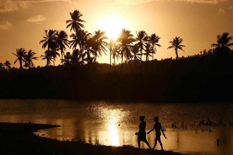 Sunset, Praia do Forte, Brazil.