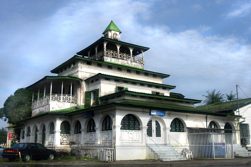 Manga Bell king's palace, Douala, Cameroon.