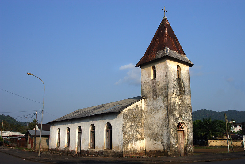 Church erected by the Basel Mission in Switzerland in 1889, Limbe, Cameroon.