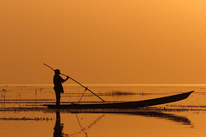Mousgoum fisherman, Maga, Extreme-North, Cameroon.