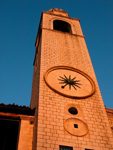 Dubrovnick clocktower, Croatia.