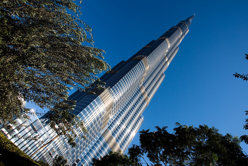 Burj Khalifa 828 m high tower, Dubai, UAE.