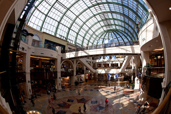 View from Mall of the Emirates, Dubai, UAE.