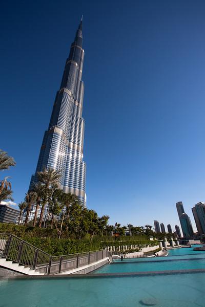 Burj Khalifa 828 m high tower, Dubai, UAE.