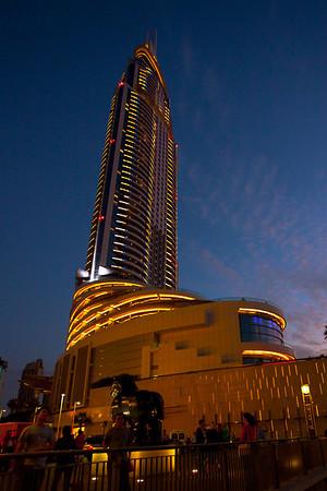 Burj Khalifa area, Dubai, UAE.