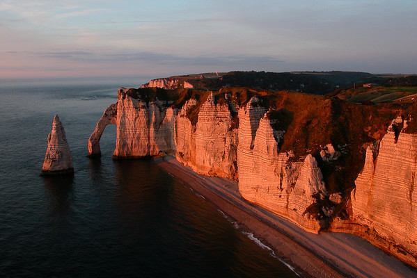 Etretat cliffs, France.