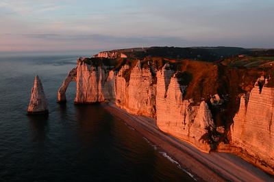 Etretat cliffs, France.