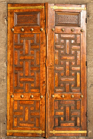 Door from the Blue Mosquee, Istanbul, Turkey.
