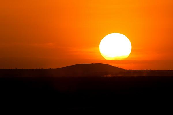 Sunset from Amboseli, Kenya.