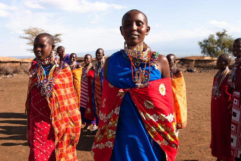 Massai people, Kenya.