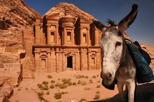 Ed Deir monastery erected in the 2nd century BC by the Nabatean people, Petra, Jordan.
