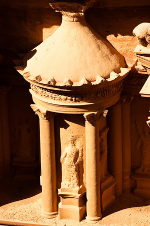 Detail from the Upper Frontwall of the Kezneh, Petra, Jordan.