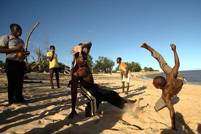 Capoeiristas, Beira, Mozambique.