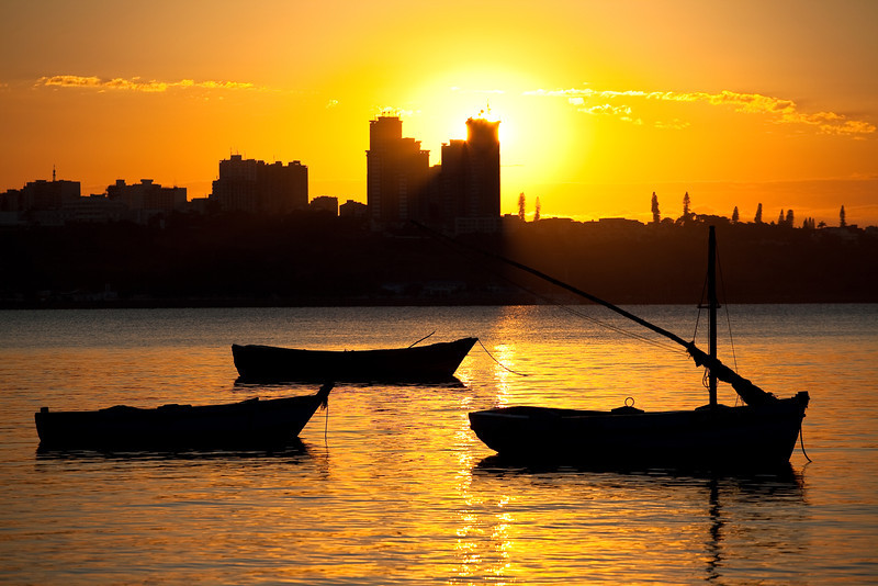 Sunrise over Maputo taken from Catembe, Mozambique.