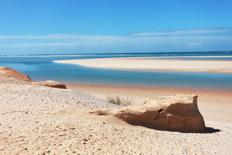 Praia de Bazarutos taken from the dunes, Mozambique.