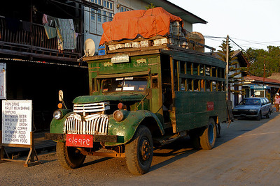 An ageless truck in the Nyang Shwe streets, Inle lake, Myanmar.