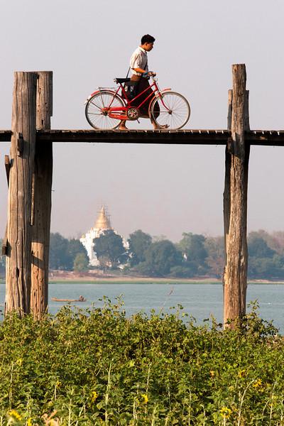 U Bein bridge, Amarapura, Myanmar.