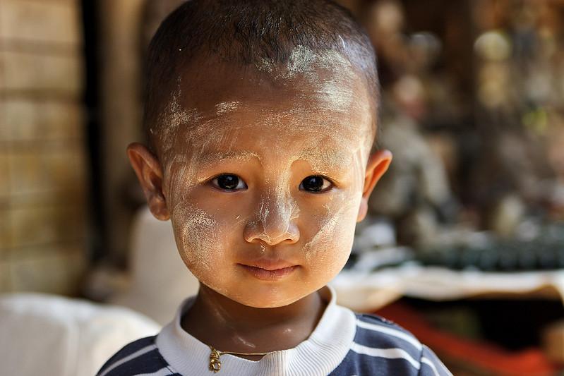 Kid from In Dein market, Inle lake, Myanmar.