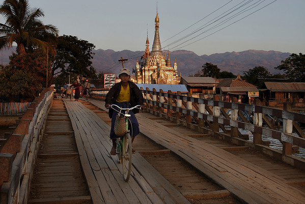 Bridge at Nyang Shwe, Myanmar.