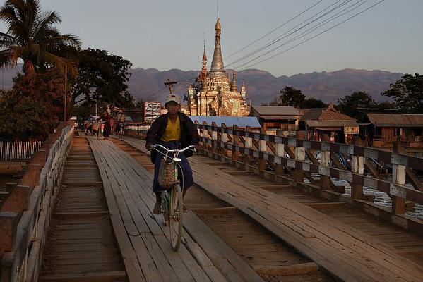 Bridge at Nyang Shwe, Myanmar.