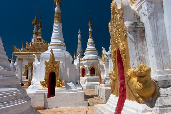 Stupa forest, Inle lake, Myanmar.