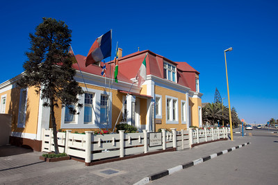 Traditional house in Swakopmund, Namibia.