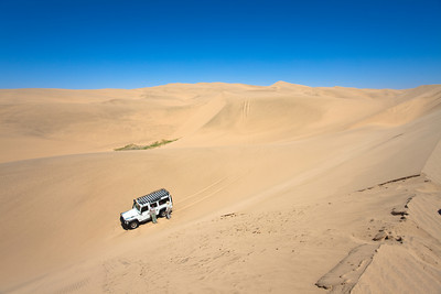 A nice drive in the sand at Sandwich Harbour close to Walvis Bay, Namibia.