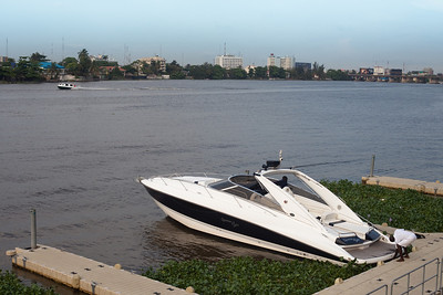 Laguna from Victoria Island with a view over Ikoyi island, Lagos, Nigeria.