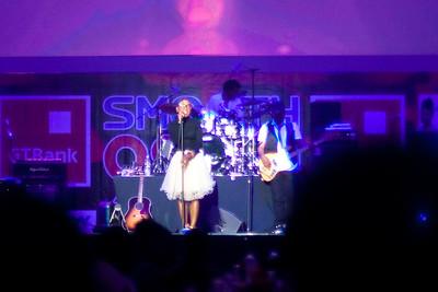 Asa (Nigerian singer) in concert at Eko Hotel, Lagos, Nigeria.