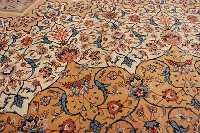 Detail from the carpet of the Sultan Quaboos mosquee, Oman.