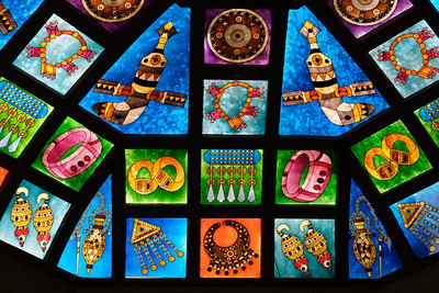 Stained glasses in the Souq of Muscat, Oman Sultanate