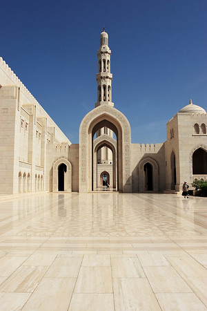 Sultan Quaboos Mosquee, Muscat, Sultanate of Oman.