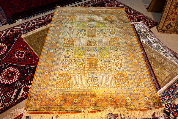 Qum silken carpet, Muscat, Sultanate of Oman.
