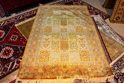 Qum silken carpet, Muscat, Sultanate of Oman.