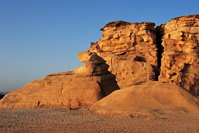 Cliffs at sunrise, Ras Al Jinz, Sultanate of Oman.