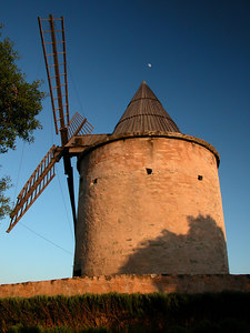 Wingmill in Provence, France.