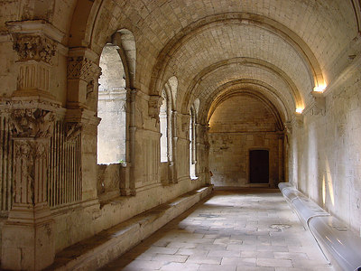Montmajour abbey, erected in 948 AD, close to Arles, Provence, France.