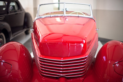 Vintage car museum, L'Omarins wine estate, Franschhoek, South Africa.