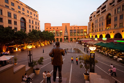 Nelson Mandela Square, Sandton business area, Johanesburg, South Africa.