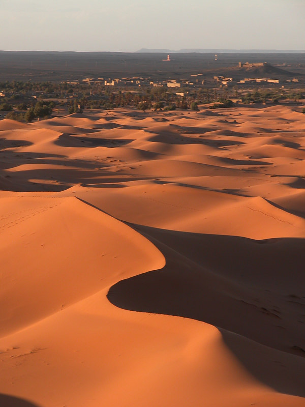 Erfoud dunes at sunset, Erfoud, Morocco.