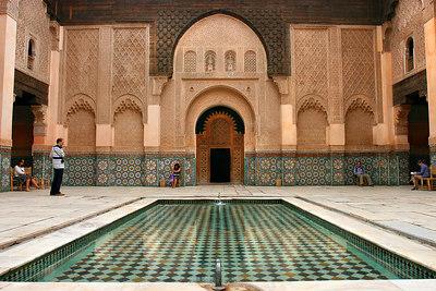 Medersa Ben Youssef (Coranic school), Marrakesh, Morocco.