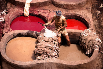 Tanneries from Fes, Morocco.