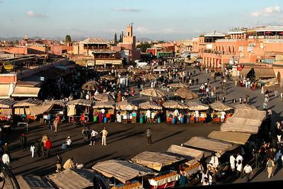 Jama El Fna square, Marrakech, Morocco.