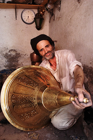 Delicate steelworker, Fes, Morocco.