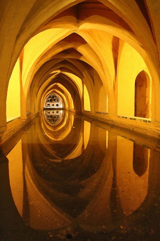 Arabic bathes from the Alcazar Real, Sevilla, Spain.