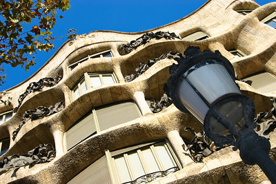 House by Gaudi, Barcelona, Spain.
