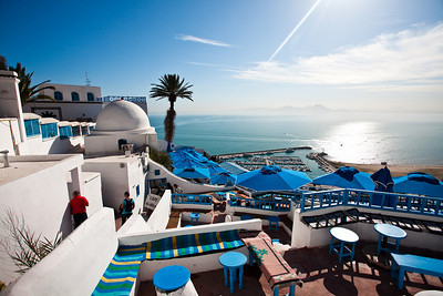 Cafe des Delices, Sidi Bou Said, Tunisia.